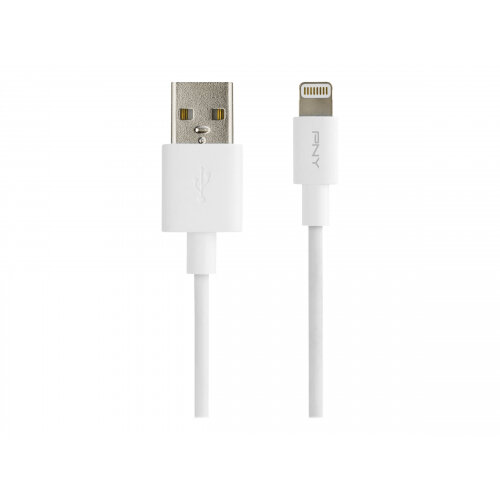 PNY Charge &Sync - Lightning cable - USB (M) to Lightning (M) - 1.2 m - white - for Apple iPad/iPhone/iPod (Lightning)