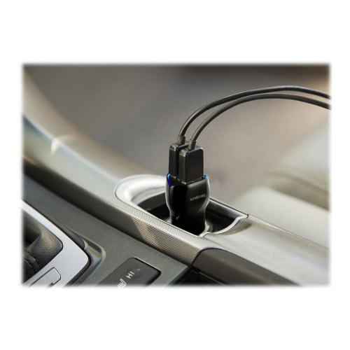 Targus Dual USB Car Charger For Media Tablets &Mobile Phones - Car power adapter - 17 Watt - 3.4 A - 2 output connectors (USB) - black