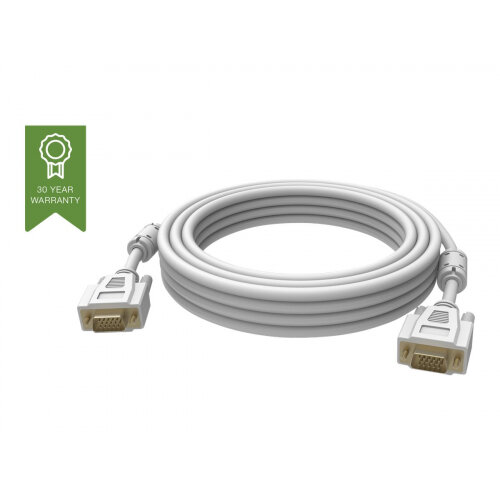 Vision Techconnect - VGA cable - HD-15 (M) to HD-15 (M) - 10 m - white