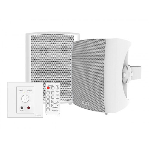 Vision Techconnect SP-1800+TC3-AMP - Audio system - 50 Watt (Total) - white