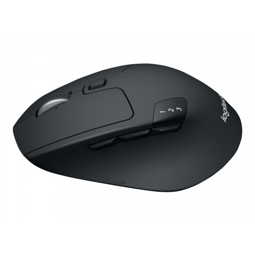 Logitech M720 Triathlon - Mouse - right-handed - optical - 7 buttons - wireless - Bluetooth, 2.4 GHz - USB wireless receiver
