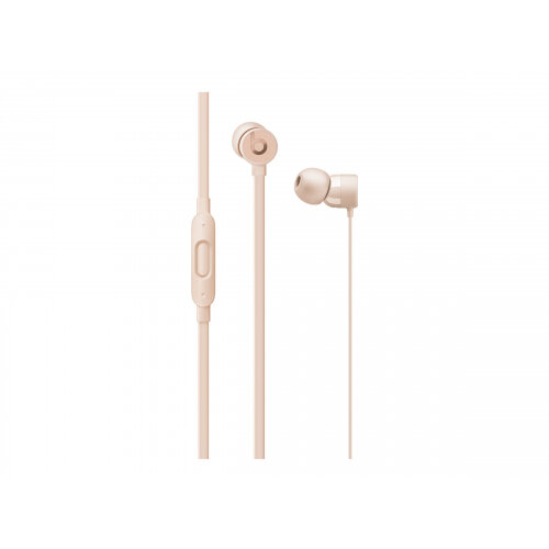 Beats urBeats3 - Earphones with mic - in-ear - wired - Lightning - noise isolating - matt gold - for 10.5-inch iPad Pro; 12.9-inch iPad Pro; 9.7-inch iPad (5th generation, 6th generation); 9.7-inch iPad Pro; iPad Air; iPad Air 2; iPad mini 2; 3; 4; iPad w