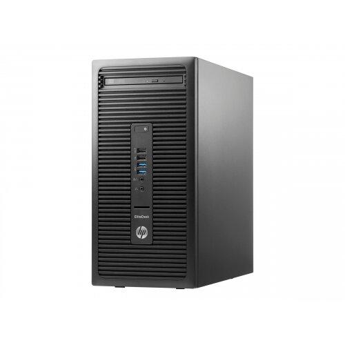 HP EliteDesk 705 G3 - Micro Tower Desktop PC - 1 x A8 9600 / 3 1 GHz - RAM  8 GB - SSD 256 GB - DVD SuperMulti - Radeon R7 - GigE - Win 10 Pro 64-bit -