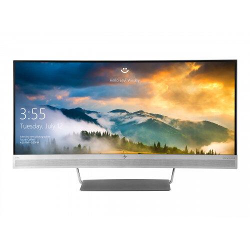 "HP EliteDisplay S340C - LED Computer Monitor - curved - 34"" (34"" viewable) - 3440 x 1440 - 300 cd/m² - 3000:1 - 6.1 ms - HDMI, DisplayPort, USB-C - speakers - black, silver"