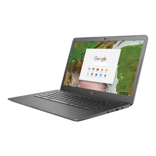 "HP Chromebook 14 G5   Laptop - Celeron N3350 / 1.1 GHz - Google Chrome OS 64 - 4 GB RAM - 32 GB eMMC - 14"" IPS 1920 x 1080 (Full HD) - HD Graphics 500 - Wi-Fi, Bluetooth - kbd: UK"