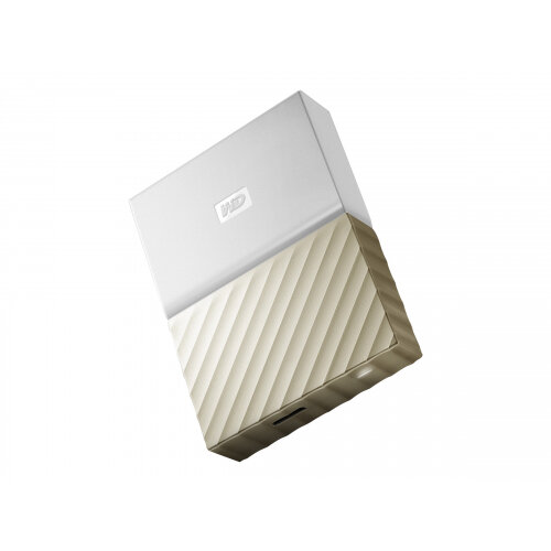 WD My Passport Ultra WDBFKT0030BGD - Hard drive - encrypted - 3 TB - external (portable) - USB 3.0 - 256-bit AES - white-gold
