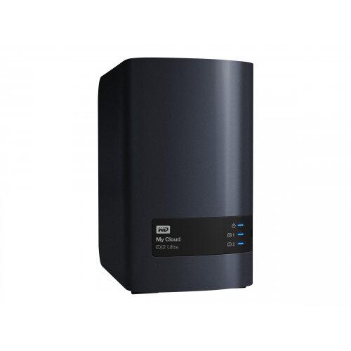 WD My Cloud EX2 Ultra WDBVBZ0200JCH - Personal cloud storage device - 2 bays - 20 TB - HDD 10 TB x 2 - RAID 0, 1, JBOD - RAM 1 GB - Gigabit Ethernet - iSCSI
