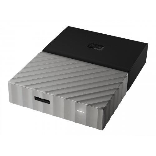 WD My Passport Ultra WDBTLG0020BGY - Hard drive - encrypted - 2 TB - external (portable) - USB 3.0 - 256-bit AES - grey, black
