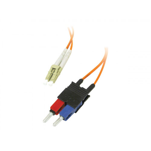C2G Low-Smoke Zero-Halogen - Patch cable - LC multi-mode (M) to SC multi-mode (M) - 10 m - fibre optic - 62.5 / 125 micron - orange