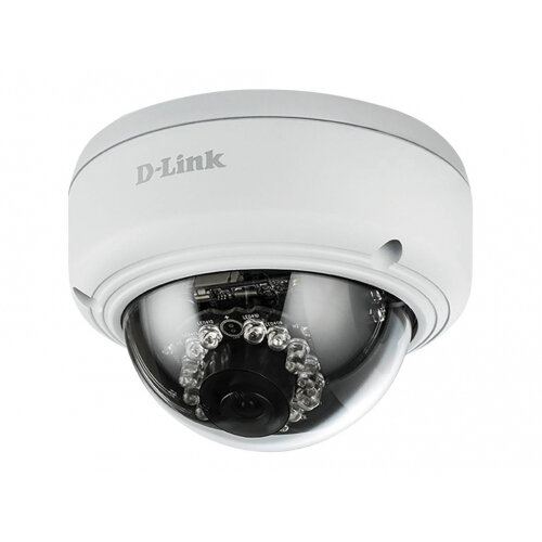 D-Link Vigilance DCS-4602EV Full HD Outdoor Vandal-Proof PoE Dome Camera - Network surveillance camera - pan / tilt - outdoor - vandal-proof - colour (Day&ight) - 2 MP - 1920 x 1080 - 1080p - LAN 10/100 - MJPEG, H.264 - DC 12 V