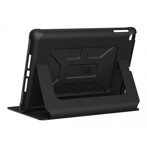 UAG Metropolis Series - Flip cover for tablet - rugged - black, black logo - for Apple 9.7-inch iPad (5th generation, 6th generation); iPad Air