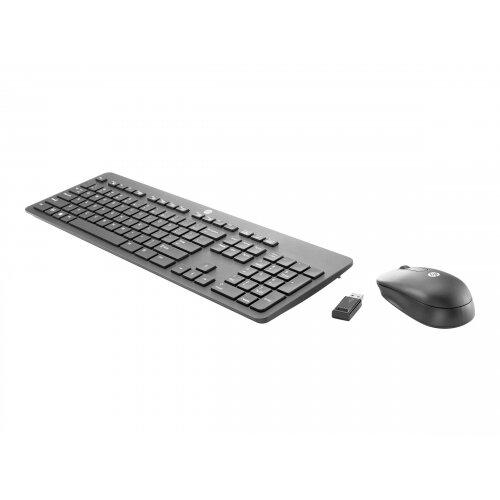 HP Business Slim - Keypad and mouse set - wireless - 2.4 GHz - UK layout - for HP t530, t628; EliteOne 1000 G1, 800 G3; ProDesk 600 G3, 600 G4; Workstation Z238, Z8 G4