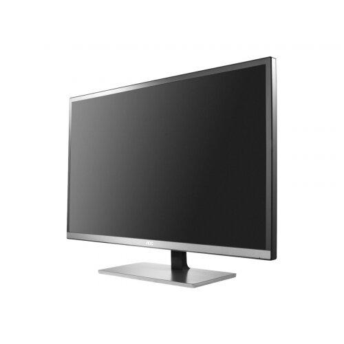 "AOC Pro-line U3277FWQ - LED Computer Monitor - 31.5"" (31.5"" viewable) - 3840 x 2160 - A-MVA - 350 cd/m² - 3000:1 - 4 ms - HDMI, MHL, DVI, DisplayPort, VGA - speakers - black/silver"