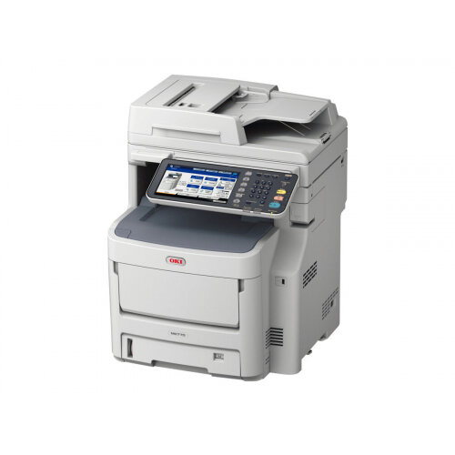 OKI MC780dfnfax - Multifunction printer - colour - LED - 216 x 356 mm (original) - A4 (media) - up to 40 ppm (copying) - up to 40 ppm (printing) - 630 sheets - 33.6 Kbps - USB 2.0, Gigabit LAN, USB host - with 500-sheets Finisher