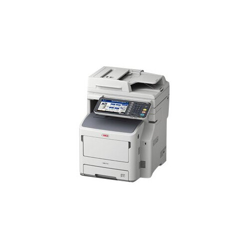 OKI MB760dnfax - Multifunction printer - B/W - LED - A4 (210 x 297 mm) (original) - A4 (media) - up to 47 ppm (copying) - up to 47 ppm (printing) - 630 sheets - 33.6 Kbps - USB 2.0, Gigabit LAN, USB host
