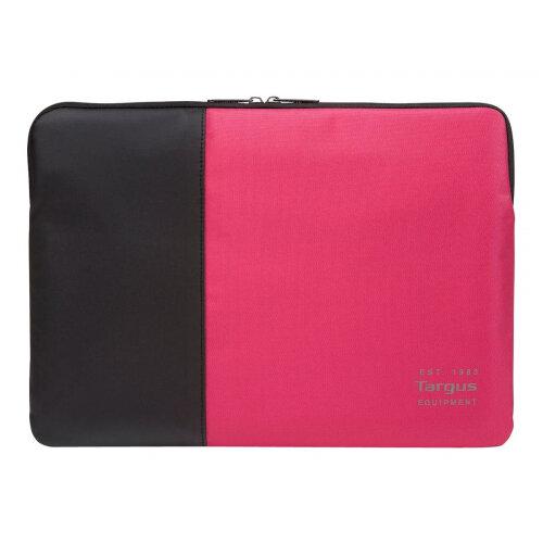"""Targus Pulse Sleeve - Notebook sleeve - 14"""" - black, pink"""