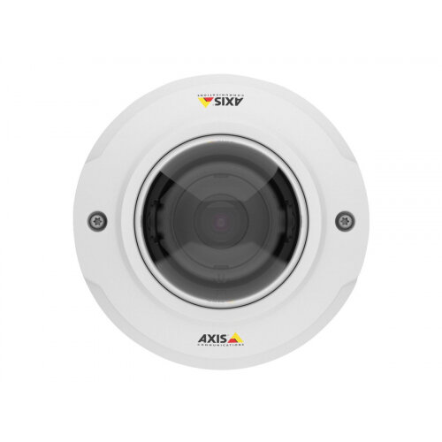 AXIS M3044-V - Network surveillance camera - dome - outdoor - dustproof / waterproof / vandal-proof - colour (Day&ight) - 1 MP - 1280 x 720 - 720p - M12 mount - fixed iris - fixed focal - LAN 10/100 - MPEG-4, MJPEG, H.264 - PoE