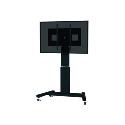 "NewStar Motorized (Height Adjustable) Mobile Floor Stand for 42-100"" Screen, Black - Cart for LCD / plasma panel / media player / mini PC (motorised) - black, RAL 9005 - screen size: 42""-100"""