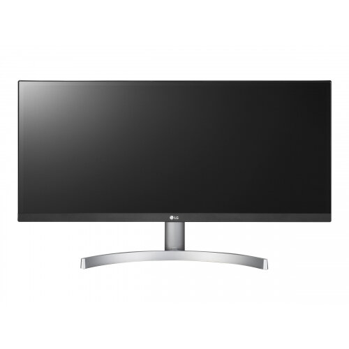 """LG 29WK600-W - LED Computer Monitor - 29"""" (29"""" viewable) - 2560 x 1080 UWFHD - AH-IPS - 300 cd/m² - 1000:1 - 5 ms - 2xHDMI, DisplayPort - speakers - black front, matte silver base, textured white back"""