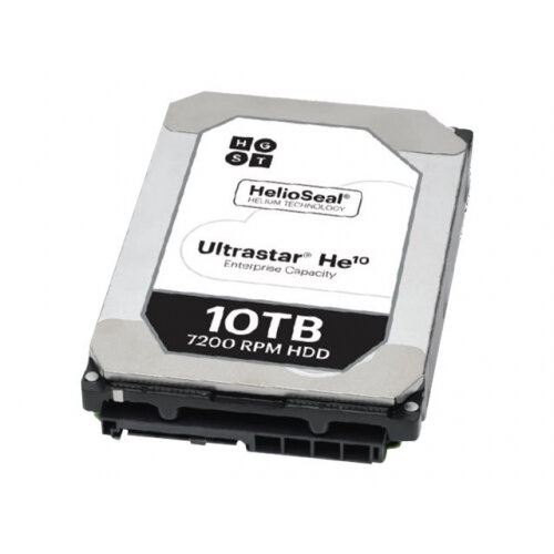 "HGST Ultrastar He10 HUH721010AL5201 - Hard drive - encrypted - 10 TB - internal - 3.5"" - SAS 12Gb/s - 7200 rpm - buffer: 256 MB - Self-Encrypting Drive (SED)"