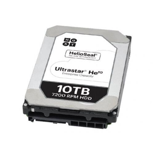 """HGST Ultrastar He10 HUH721010ALN600 - Hard drive - 10 TB - internal - 3.5"""" - SATA 6Gb/s - 7200 rpm - buffer: 256 MB"""