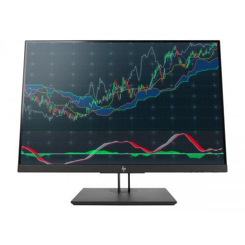 "HP Z24n G2 - LED Computer Monitor - 24"" (24"" viewable) - 1920 x 1200 WUXGA - IPS - 300 cd/m² - 1000:1 - 5.8 ms - DisplayPort, HDMI, DVI-D, USB-C - Black Pearl"