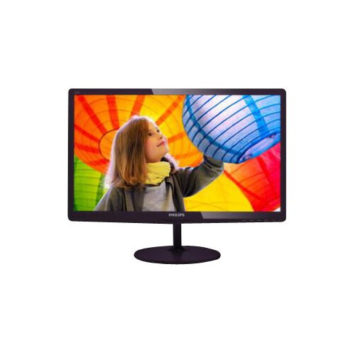 "Philips E-line 227E6LDAD - LED Computer Monitor - 22"" (21.5"" viewable) - 1920 x 1080 Full HD (1080p) - 250 cd/m² - 1000:1 - 2 ms - HDMI, DVI-D, VGA, MHL - speakers - glossy cherry black"