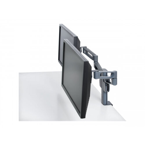Kensington SmartFit Dual Monitor Arm Mount - Mounting kit (desk clamp mount, 2 monitor arms) for 2 LCD displays - dark grey - desk-mountable