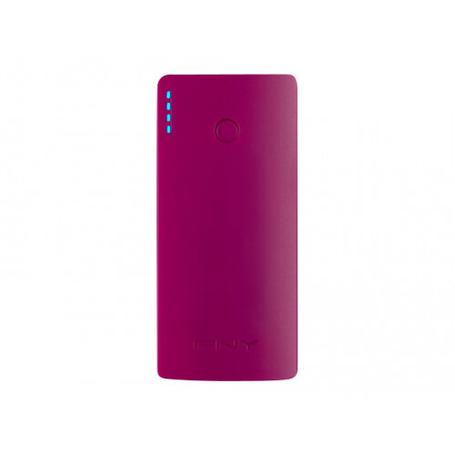 PNY PowerPack Curve 5200 - Power bank - 5200 mAh - 2.1 A (USB) - on cable: Micro-USB - purple