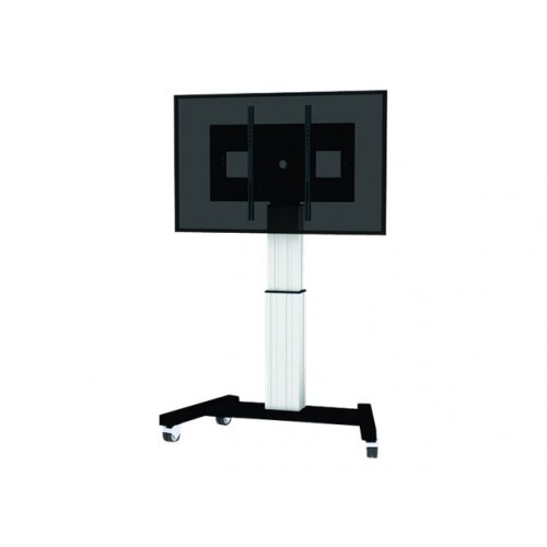 """NewStar Motorized (Height Adjustable) Mobile Floor Stand for 42-100"""" Screen including Microsoft Surface Hub, Silver - Cart for LCD / plasma panel / media player / mini PC (motorised) - silver - screen size: 60""""-100"""""""