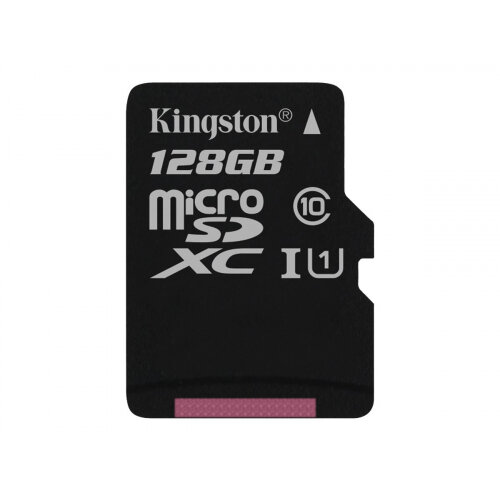 Kingston Canvas Select - Flash memory card - 128 GB - UHS-I U1 / Class10 - microSDXC UHS-I