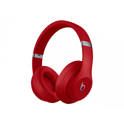 Beats Studio3 Wireless - Headphones with mic - full size - Bluetooth - wireless - active noise cancelling - noise isolating - red