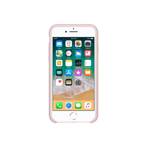 Apple - Back cover for mobile phone - silicone - pink sand - for iPhone 7, 8