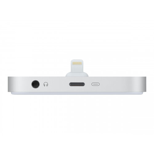 Apple iPhone Lightning Dock - Docking station - silver - for iPhone 5, 5c, 5s, 6, 6 Plus, 6s, 6s Plus, SE; iPod touch (5G, 6G)