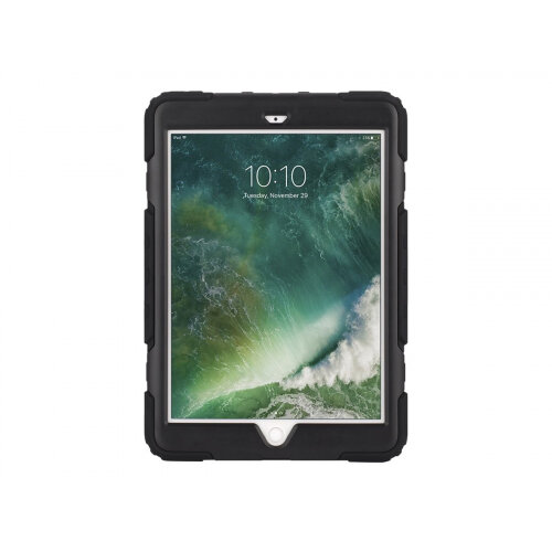 Griffin Survivor All-Terrain - Protective case for tablet - rugged - silicone, polycarbonate, PET - black, smoke - for Apple 9.7-inch iPad (5th generation)
