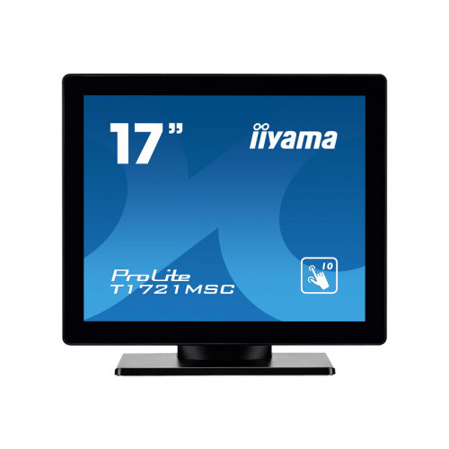 "Iiyama ProLite T1721MSC-B1 - LED Computer Monitor - 17"" - touchscreen - 1280 x 1024 - TN - 250 cd/m² - 1000:1 - 5 ms - DVI-D, VGA - speakers - black"