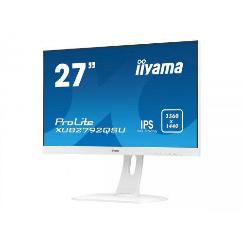 "Iiyama ProLite XUB2792QSU-W1 - LED Computer Monitor - 27"" - 2560 x 1440 - IPS - 350 cd/m² - 1000:1 - 5 ms - HDMI, DVI, DisplayPort - speakers - white"