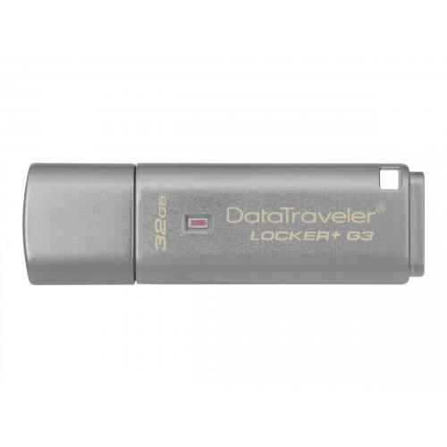 Kingston DataTraveler Locker+ G3 - USB flash drive - encrypted - 32 GB - USB 3.0