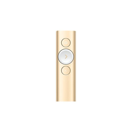 Logitech Spotlight Wireless Universal Remote Control For Notebook PC Bluetooth 30 m Operationg Distance Lithium Polymer Li-Polymer Gold 3 Buttons