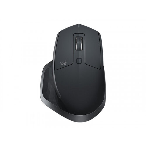 Logitech MX Master 2S - Mouse - laser - 7 buttons - wireless - Bluetooth, 2.4 GHz - USB wireless receiver - graphite
