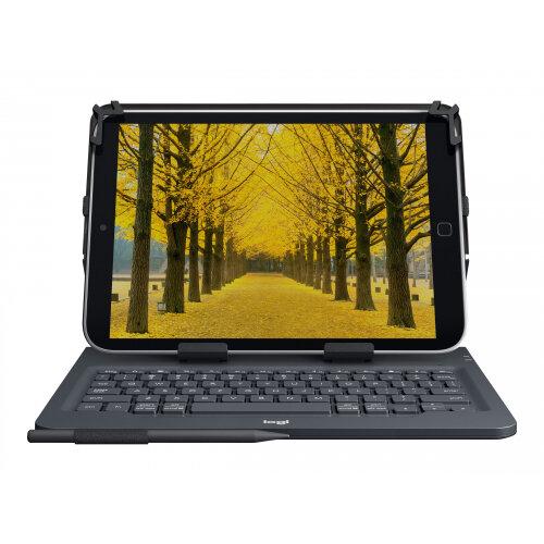 Logitech Universal - Keyboard and folio case - wireless - Bluetooth 3.0 - UK QWERTY