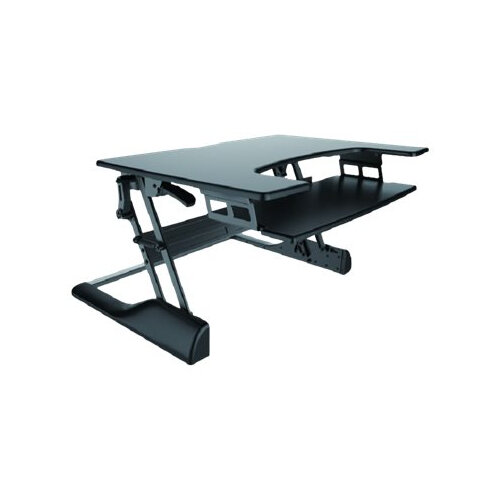 NewStar Sit-Stand Desktop Workstation - Black In Colour - Convert Your Regular Desk To An Ergonomic Sit-Stand Desk!