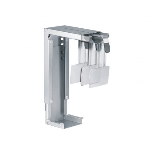 NewStar Under Desk &On-Wall PC Mount (Suitable PC Dimensions -  Height: 30-53 cm / Width: 8-22 cm) - Silver - System unit holder - under-desk mountable - silver