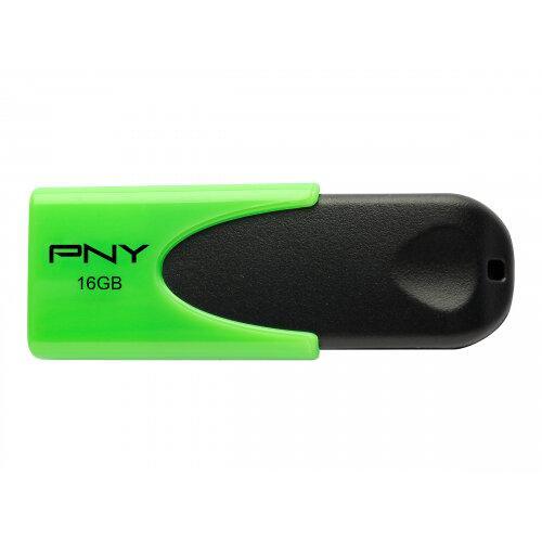 PNY N1 Attaché - USB flash drive - 16 GB - USB 2.0 - green