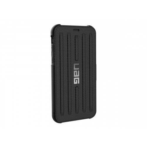 UAG Metropolis Series - Flip cover for mobile phone - rugged - black - for Apple iPhone X