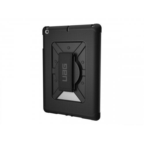 UAG Rugged Case for iPad 9.7 (2017 5th Gen &2018 6th Gen) w/ Handstrap - Case for tablet - composite - black - for Apple 9.7-inch iPad (5th generation, 6th generation)