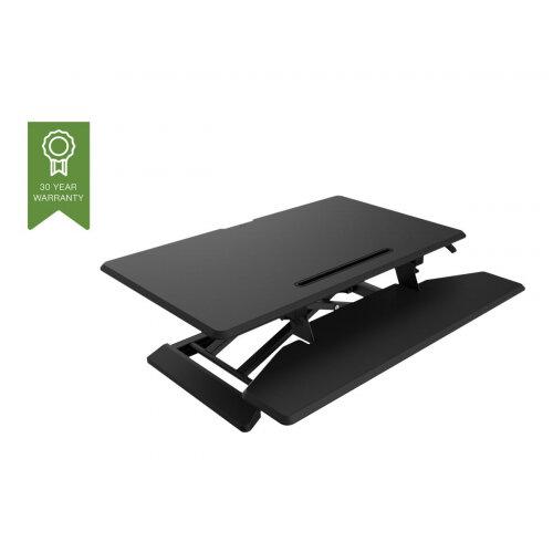 Vision VSS-1 Sit-Stand Desk Riser - Medium - stand for LCD display / keyboard / mouse / tablet - steel - black/dark grey - desktop stand