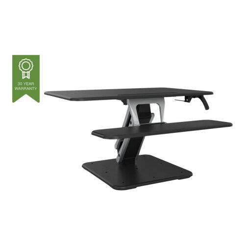 Vision VSS-2 Sit-Stand Desk Riser - Medium - stand for LCD display / keyboard / mouse / tablet - aluminium, steel - black/dark grey - desktop stand