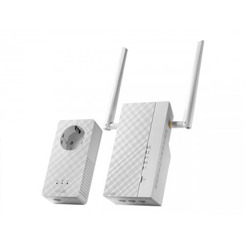 ASUS PL-AC56 Kit - Bridge - GigE, HomePlug AV (HPAV) 2.0 - 802.11a/b/g/n/ac - Dual Band - wall-pluggable