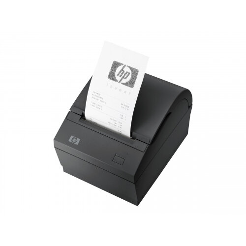 HP Single Station Thermal Receipt Printer - Receipt printer - two-colour (monochrome) - thermal paper - Roll (0.8 cm) - 203 dpi - up to 74 lines/sec - PoweredUSB